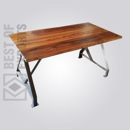 industrial dining table, vintage industrial table, industrial dining table and chairs, rustic metal and wood dining table, reclaimed wood and metal dining table, Modern Industrial Dining Room Sets