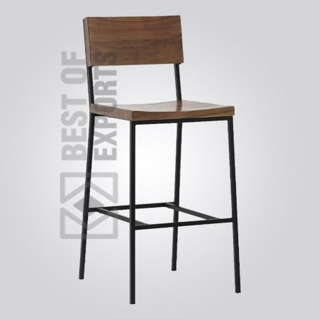 industrial bar stool, Industrial Leather Bar Stools, rustic industrial bar stools, Industrial Bar Stool Leather Seat With Back Brown, Bar Stools & Chairs, Metal Industrial Bar Stools, Industrial Bar Stools and Counter Stools, industrial stools with backs, industrial bar stools with backs, vintage industrial bar stools