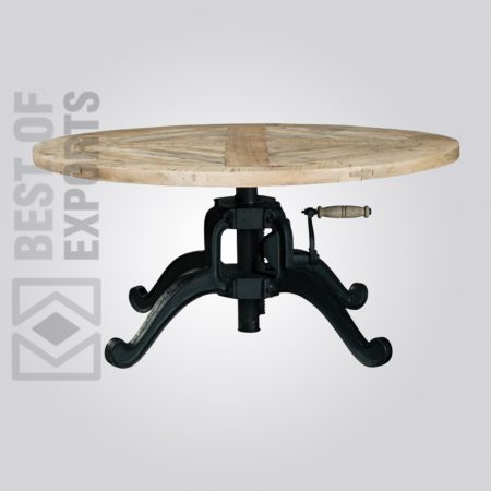 Industrial Adjustable Coffee Table