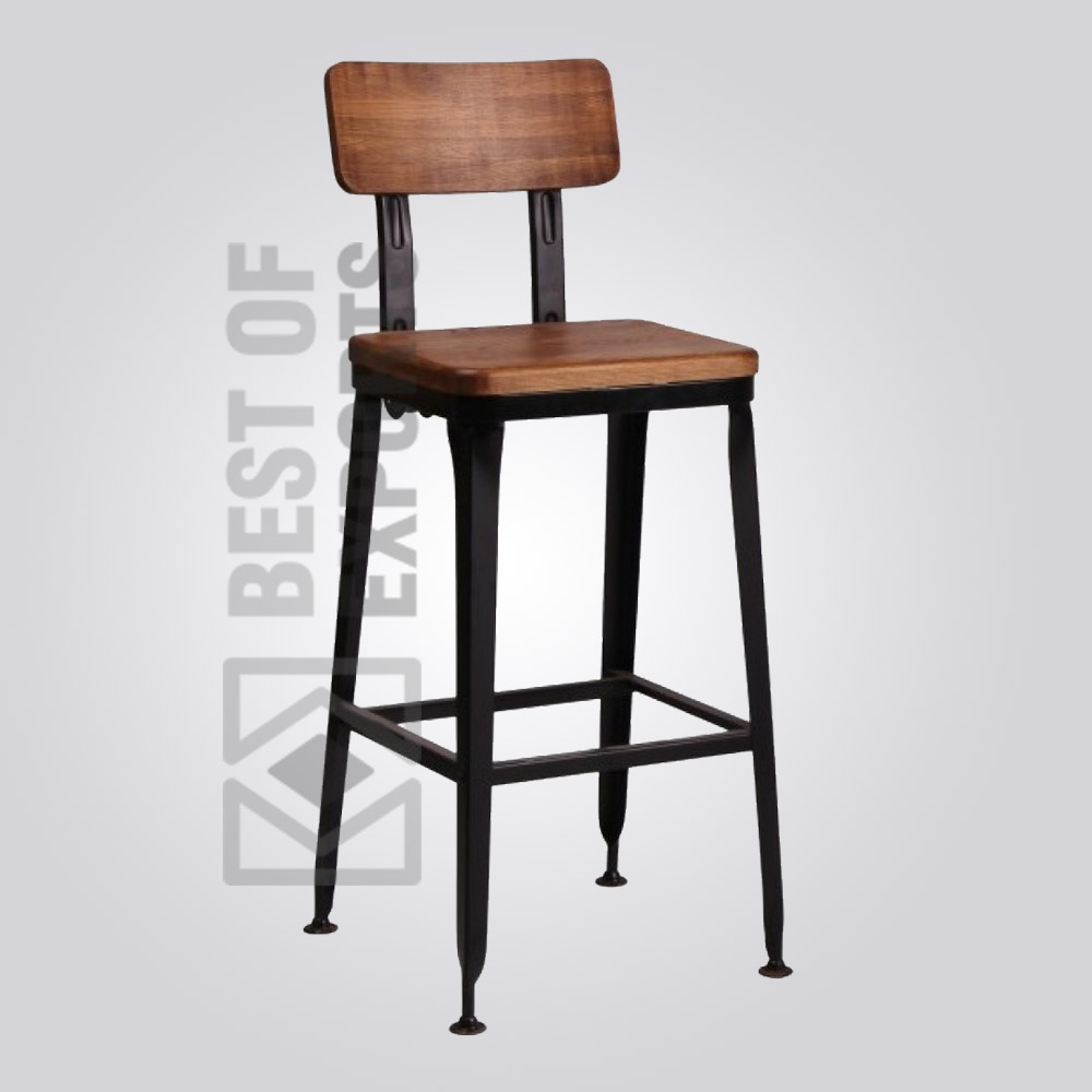 Incredible Vintage Bar Stool With Wooden Seat Best Of Exports Uwap Interior Chair Design Uwaporg