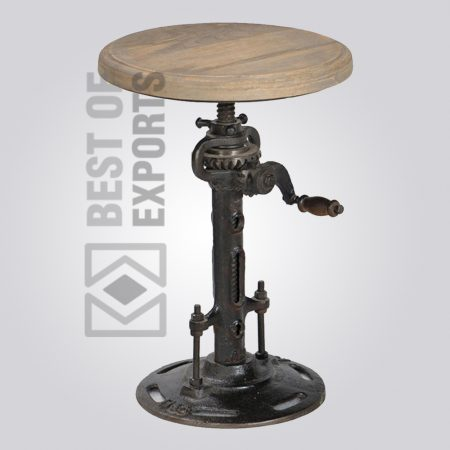 Industrial Adjustable Round Stool