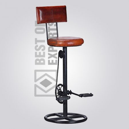Adjustable Cycle Stool With Leather Seat