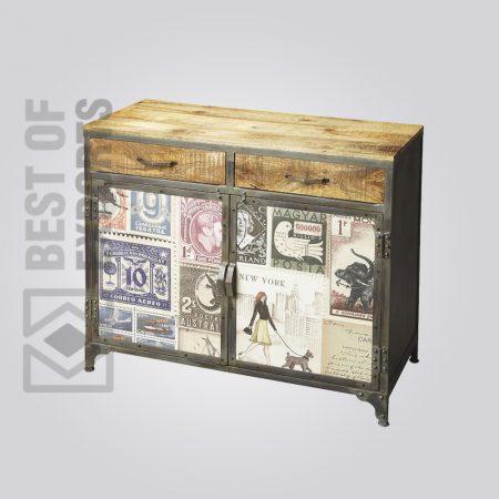 Metal/Wood Sideboard