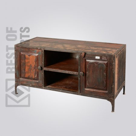 Metal Media Cabinet With Drawer
