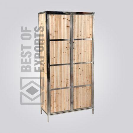 Industrial Almirah With Wooden Door