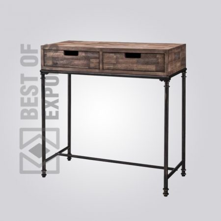 Metal/Wood Console Table With Drawer