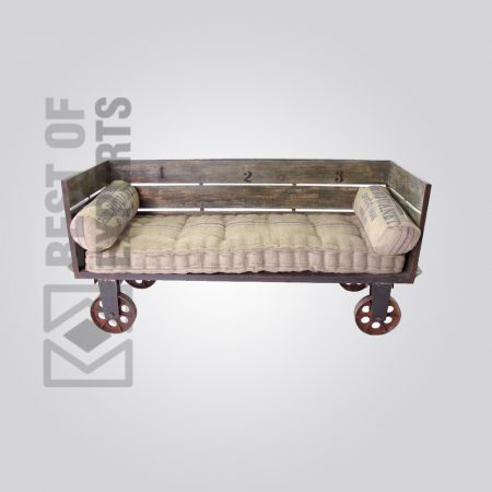 Industrial Sofa With Wheel