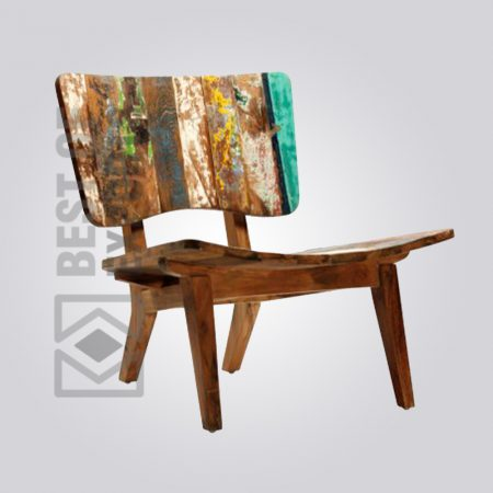 Modern Style Reclaimed Wood Chair