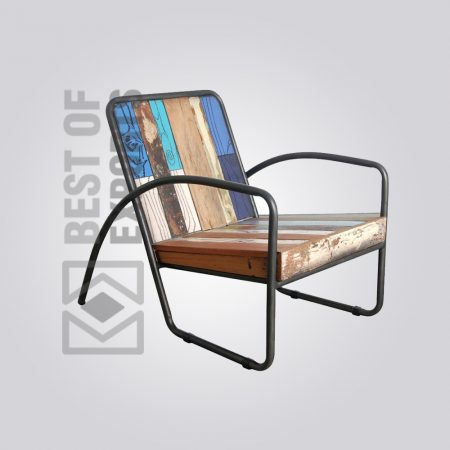 Modern Style Reclaimed Wood Rest Chair