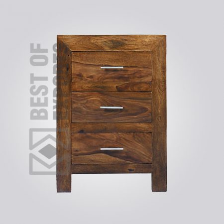 Wooden Bedside Table With Drawer