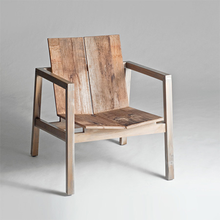 Reclaimed Chair & Stools